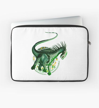 Androsexual Amargasaurus (with text)  Laptop Sleeve
