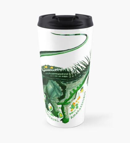 Androsexual Amargasaurus (with text)  Travel Mug