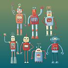 Vintage Retro Robots by Nic Squirrell