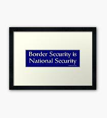 National Security Framed Print