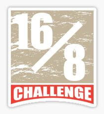 16/8 Challenge Intervall Fasting Intermittent Fitness Fasting Sticker