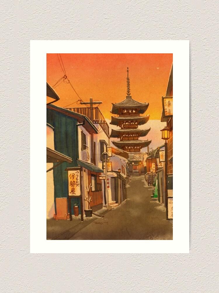 Alternate view of Yasaka Pagoda, Kyoto, Japan Art Print