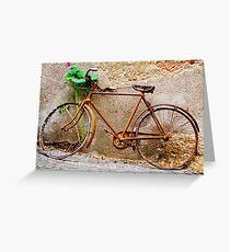 Ready for the tour of Italy? Bicycle, Asolo, Italy Greeting Card