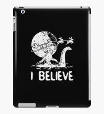 Bigfoot Sasquatch Riding Loch Ness Monster Christmas iPad Case/Skin