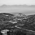 Agropoli landscape with sea by Giuseppe Cocco