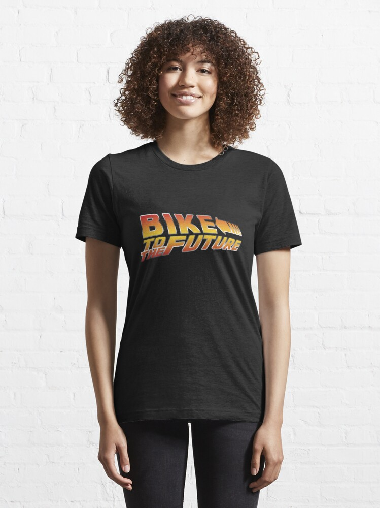 Alternate view of Bike To The Future Essential T-Shirt
