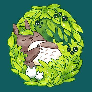 Totoro - Ghibli Studios  by michelledraws