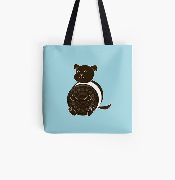 Oreo Puppy All Over Print Tote Bag