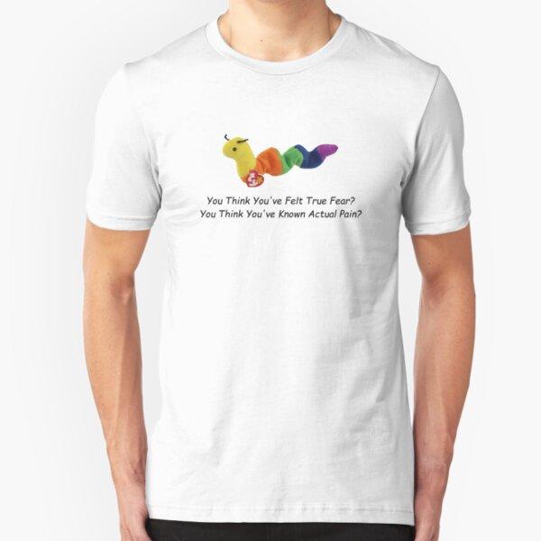 You Think You've Felt True Fear? You Think You've Known Actual Pain? (comic sans) Slim Fit T-Shirt