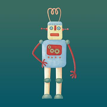 Cute Vintage Retro Robot by squirrell