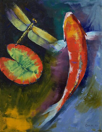 Red Dragon Koi by Michael Creese
