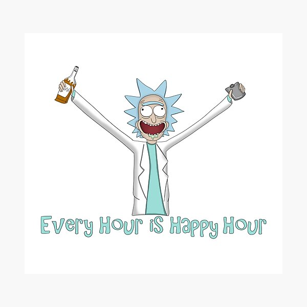 Every Hour is Happy Hour Photographic Print