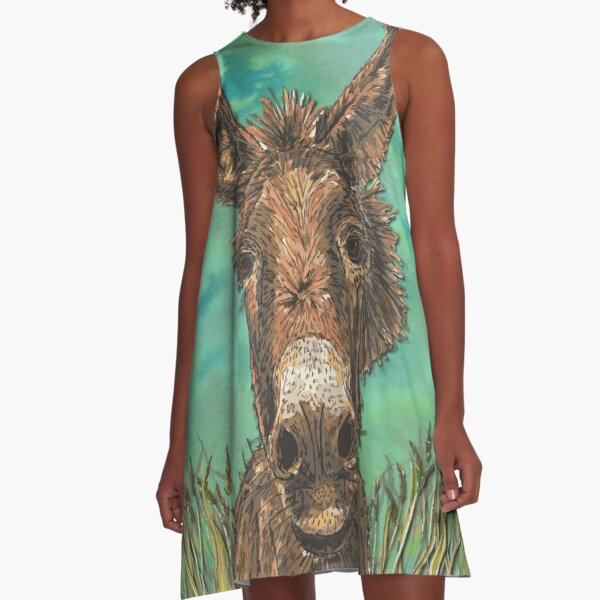 Little Brown Donkey A-Line Dress