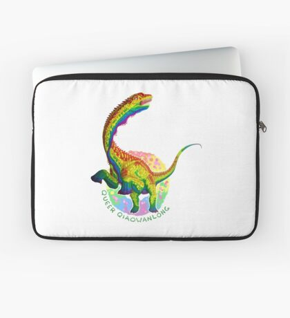 Queer Qiaowanlong (with text)  Laptop Sleeve