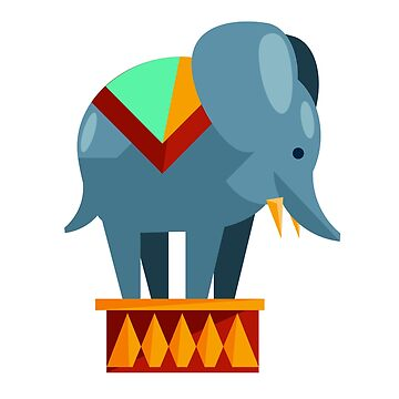 Circus elephant by phys