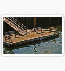 Dock at Northport Harbor Sticker