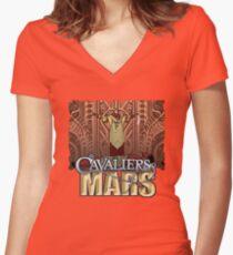 Cavaliers Art: Ziggur Women's Fitted V-Neck T-Shirt