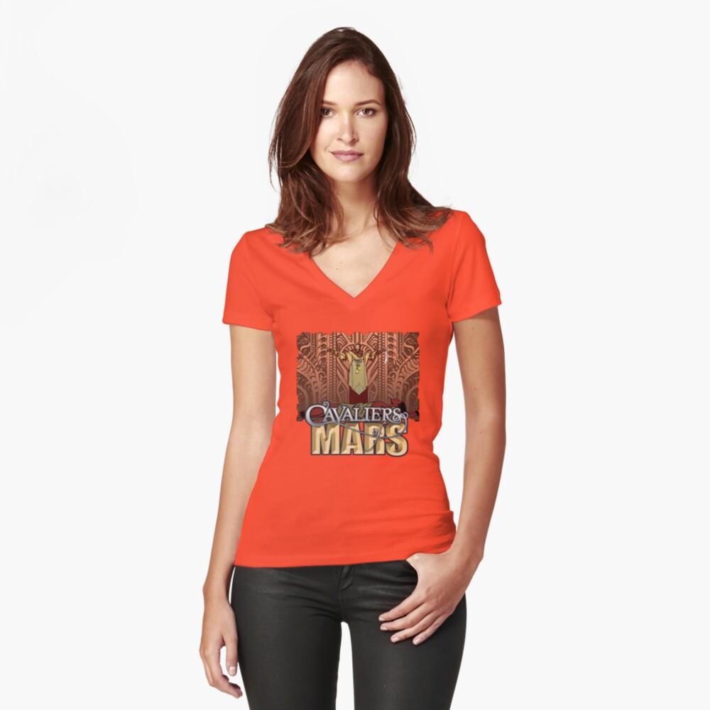 Cavaliers Art: Ziggur Women's Fitted V-Neck T-Shirt Front