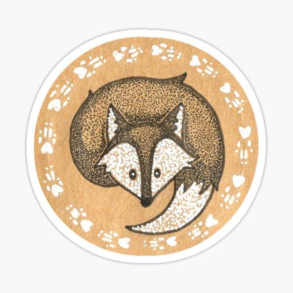 snow fox Sticker