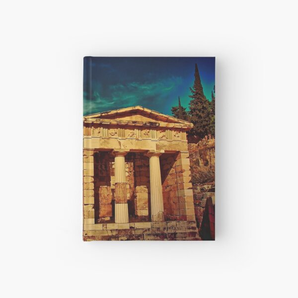 Greece. Ancient site of Delphi. Hardcover Journal