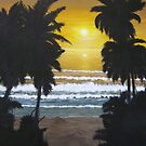 Palms in Silhouette by Linda Bennett