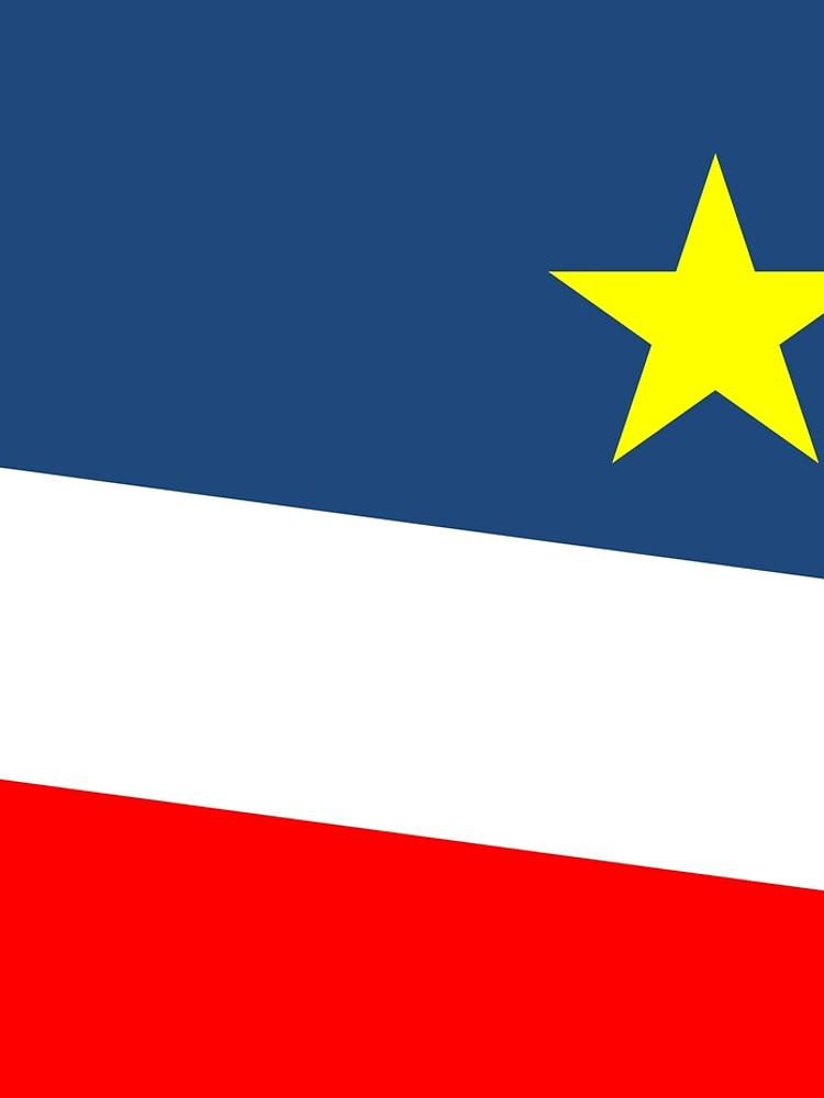 Acadian Flag - Drapeau acadien by ColoursOfFrance