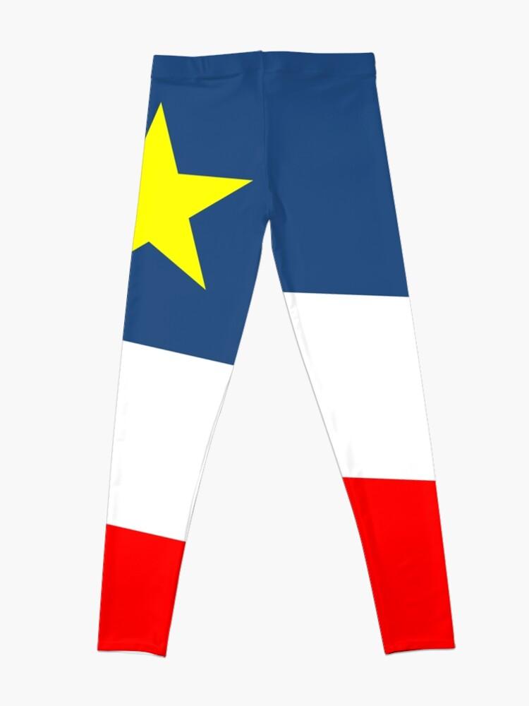 Alternate view of Acadian Flag - Drapeau acadien Leggings