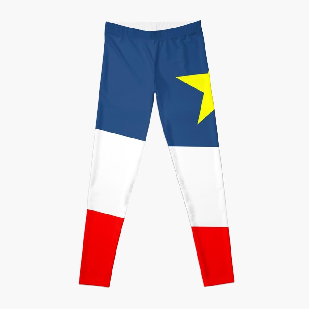 Acadian Flag - Drapeau acadien Leggings