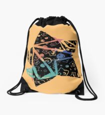 Inked Colorful Star Tilted Drawstring Bag