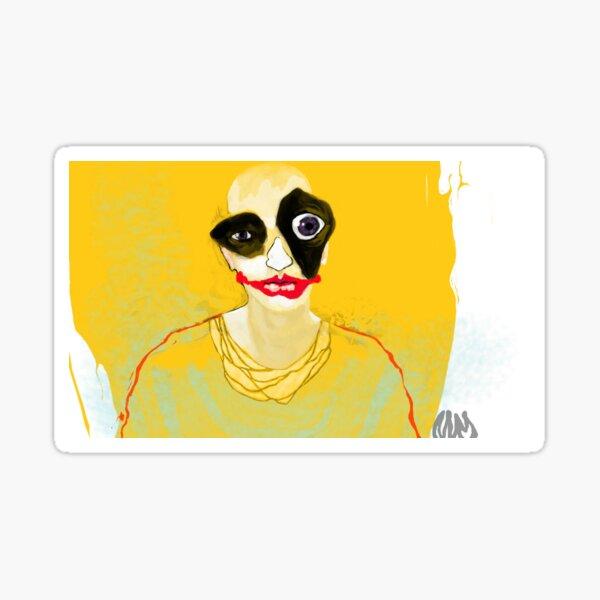 Yellow Jester Sticker