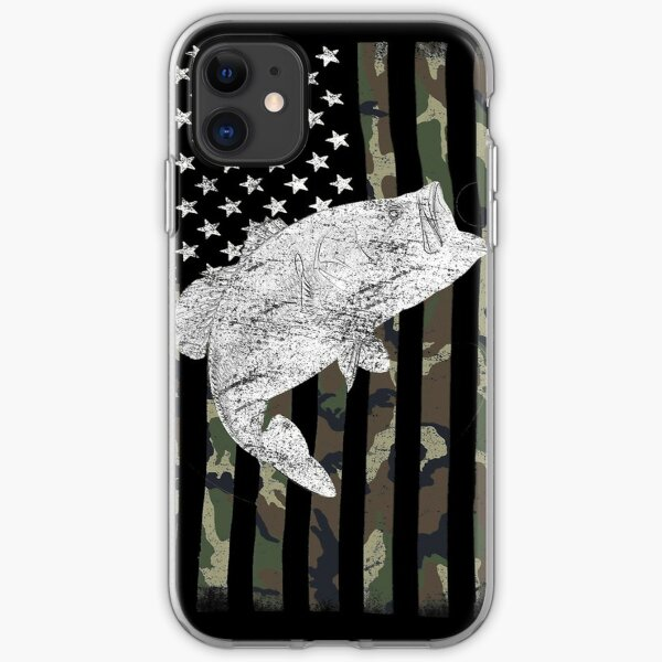 Camouflage Flag Bass Fishing Angler iPhone Soft Case