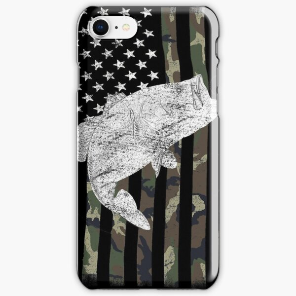 Camouflage Flag Bass Fishing Angler iPhone Snap Case