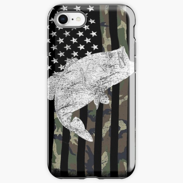 Camouflage Flag Bass Fishing Angler iPhone Tough Case