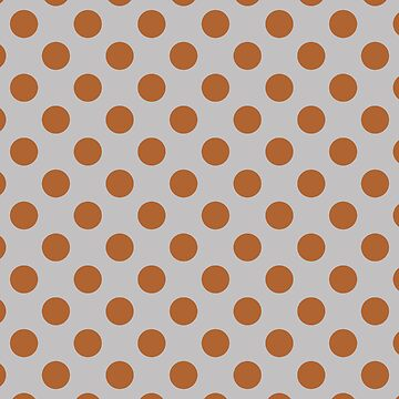 Large Polka Dots in Burnt Orange on Light Gray by MelFischer