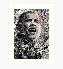 """""""I Am Not A Perfect Man,"""" Obama Civil Rights and Protest Collage Art Print"""