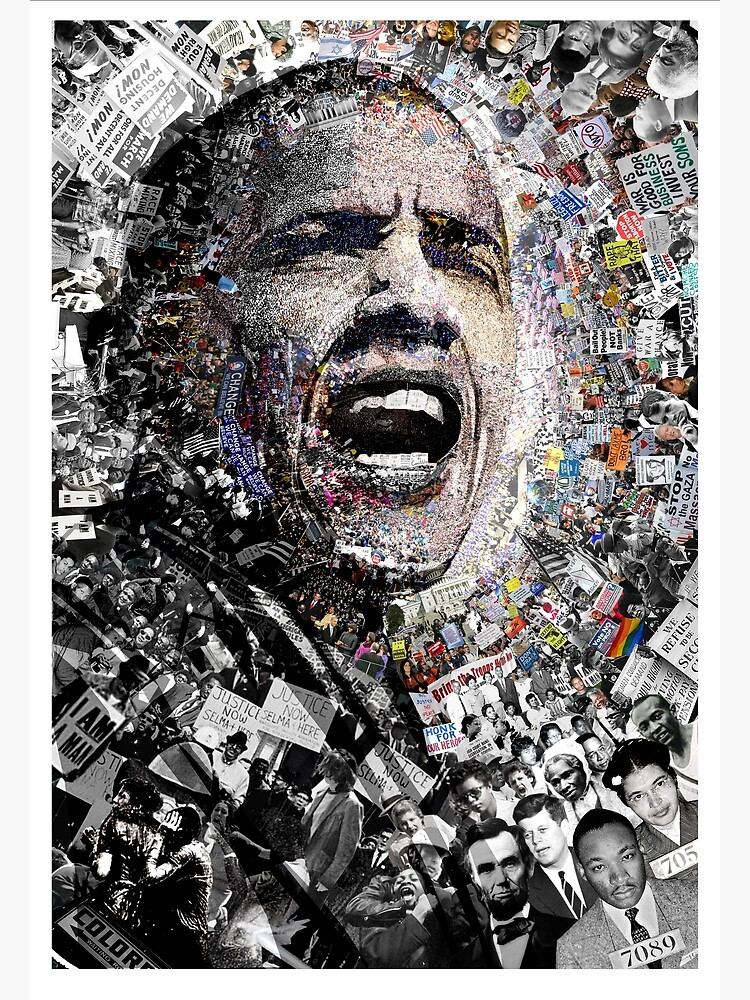 """""""I Am Not A Perfect Man,"""" Obama Civil Rights and Protest Collage by worn"""