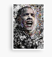 """I Am Not A Perfect Man,"" Obama Civil Rights and Protest Collage Canvas Print"