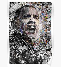"""""""I Am Not A Perfect Man,"""" Obama Civil Rights and Protest Collage Poster"""