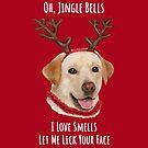 Carolling Christmas Furries – Labrador Retriever (white text) by RulaVam