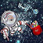 """Santa """"Space Walker""""  by WhiteDove Studio kj gordon"""