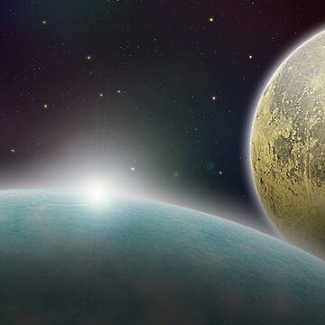 Earth Moon Space by choppy777