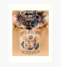 Conor McGregor Tattoos Brust und Bauch Kunstdruck