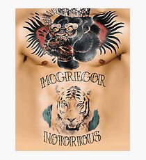 Conor McGregor Tattoos Chest and Stomach Photographic Print