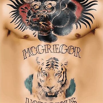 Conor McGregor Tattoos Chest and Stomach by bigtimmystyle