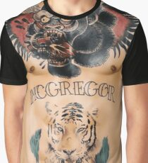Conor McGregor Tattoos Brust und Bauch Grafik T-Shirt