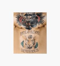 Conor McGregor Tattoos Chest and Stomach Art Board