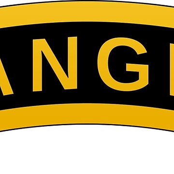 Army RANGER Military Symbol Text Design on black background by igorsin