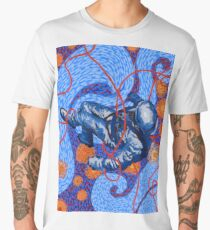 Van Gogh To Space, or Starry Night With Astronaut Men's Premium T-Shirt