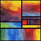 Abstract  Blocks Of Watercolor Bright Vivid Geometry  by Irina Sztukowski