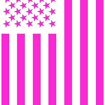 American Flag Pink  by Patriot76